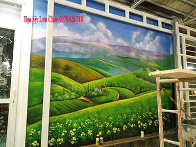 vẽ tranh tường phong cảnh biên hòa
