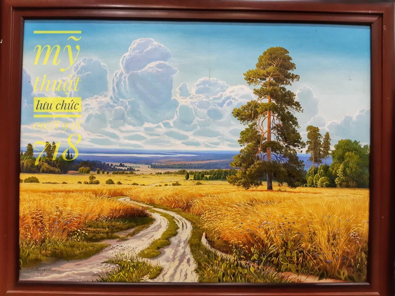 tranh phong cảnh ruộng lúa