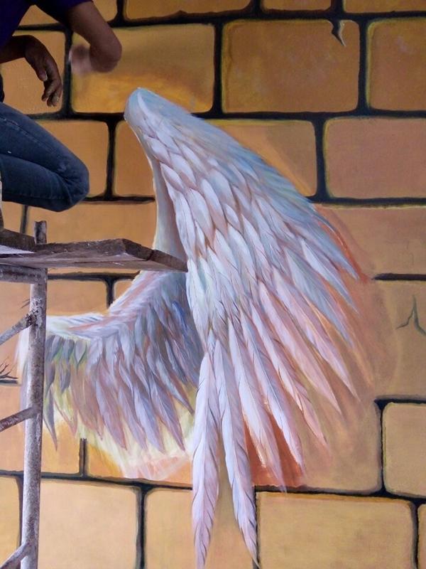 tranh trang trí cánh thiên thần