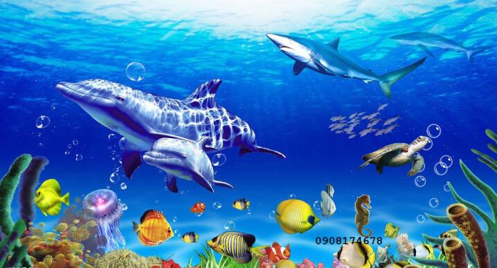 vẽ tranh cá 3D