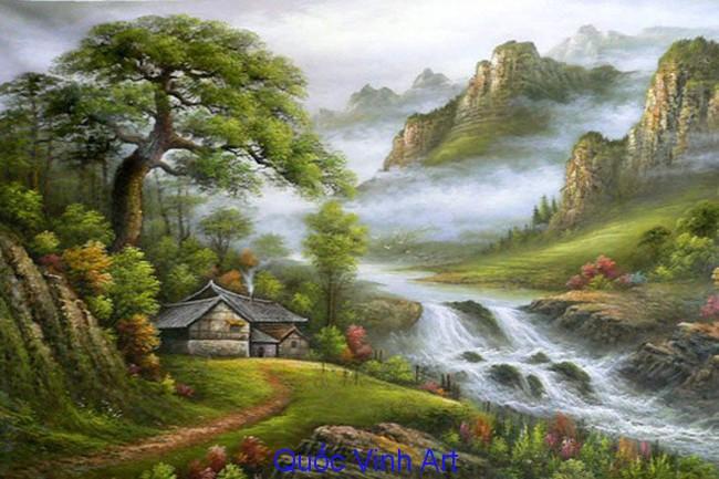 vẽ tranh phong cảnh tại biên hòa